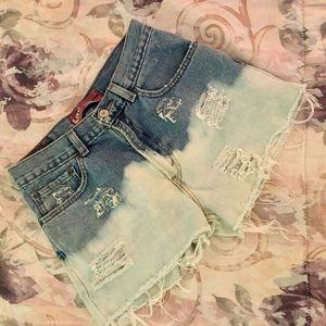 Levi's 565 custom denim cut off shorts